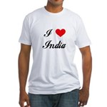 I Love India Fitted T-Shirt