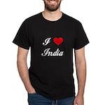 I Love India Dark T-Shirt