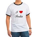 I Love India Ringer T