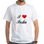 I Love India White T-Shirt