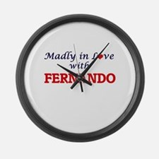 Madly in love with Fernando Large Wall Clock