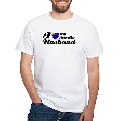 I love my Australian husband White T-Shirt