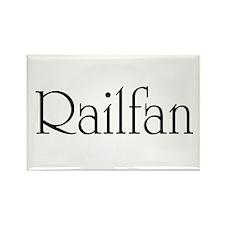 Railfan Rectangle Magnet
