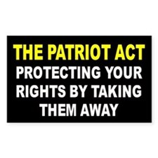 PATRIOT ACT Rectangle Decal