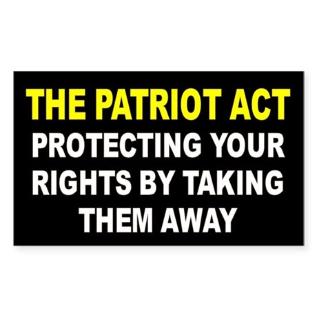 PATRIOT ACT Rectangle Sticker