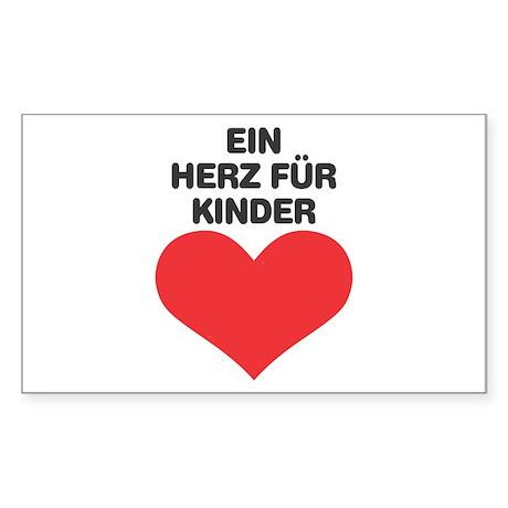 Ein Herz Fuer Kinder Rectangle Sticker