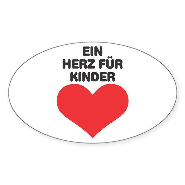 ein herz fuer kinder oval decal by plumcrazydesign. Black Bedroom Furniture Sets. Home Design Ideas