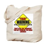 Fair Warning Conservative Tote Bag