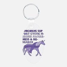 Unicorns Support Cystic Fibrosis Awarene Keychains