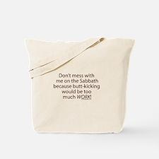 Sabbath Humor Tote Bag