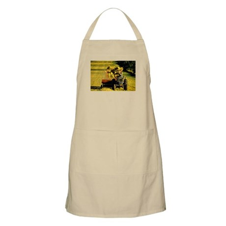 Tractor Making Hay BBQ Apron