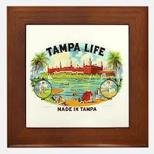 Tampa Life Vintage Cigar Ad Framed Tile