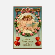 Angel Cherub Valentine Rectangle Magnet