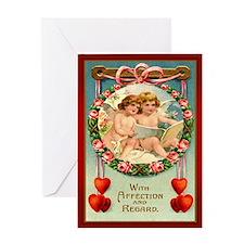 Angel Cherub Valentine Greeting Card