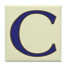 Spanish Blue Letter Tiles Tile Coaster