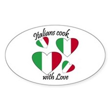 Italians Cook Oval Decal