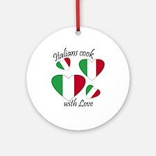 Italians Cook Ornament (Round)