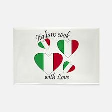 Italians Cook Rectangle Magnet