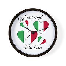 Italians Cook Wall Clock