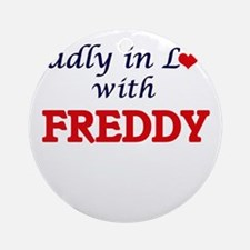 Madly in love with Freddy Round Ornament