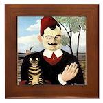 MAN & CAT Framed Tile