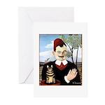 MAN & CAT Greeting Cards (Pk of 20)