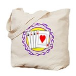 Hot Aces Gambler Tote Bag