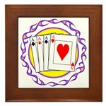 Hot Aces Gambler Framed Tile