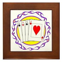 Hot Aces Gambler Framed Tile