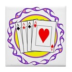 Hot Aces Gambler Tile Coaster