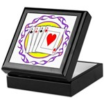 Hot Aces Gambler Keepsake Box