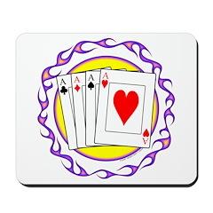 Hot Aces Gambler Mousepad