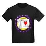 Hot Aces Gambler Kids Dark T-Shirt