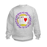 Hot Aces Gambler Kids Sweatshirt