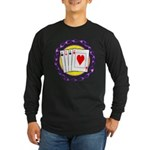 Hot Aces Gambler Long Sleeve Dark T-Shirt