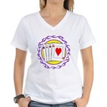 Hot Aces Gambler Women's V-Neck T-Shirt