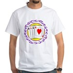 Hot Aces Gambler White T-Shirt