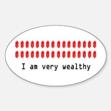Wealthy Link Oval Decal