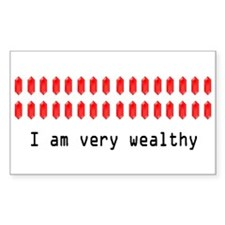 Wealthy Link Rectangle Decal
