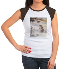 1927 Christmas Bunny Women's Cap Sleeve T-Shirt