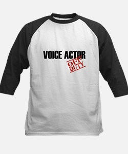 Off Duty Voice Actor Kids Baseball Jersey