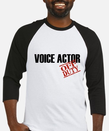 Off Duty Voice Actor Baseball Jersey