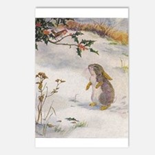 1927 Christmas Bunny Postcards (Package of 8)