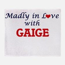 Madly in love with Gaige Throw Blanket