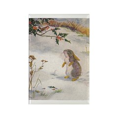 1927 Christmas Bunny Rectangle Magnet (10 pack)