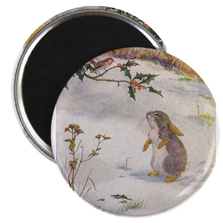 """1927 Christmas Bunny 2.25"""" Magnet (100 pack)"""