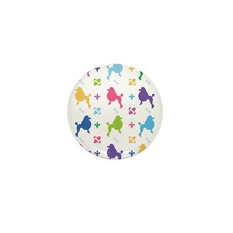 Poodle Designer Mini Button