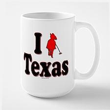 """I Polo Texas"" Large Mug Mugs"