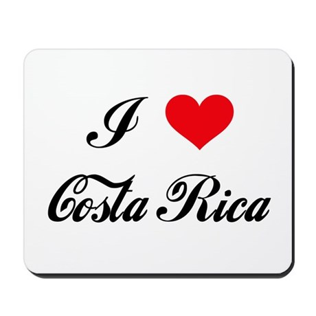 I Love Costa Rica Mousepad