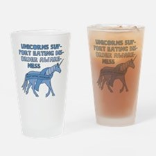 Unicorns Support Eating Disorder Aw Drinking Glass